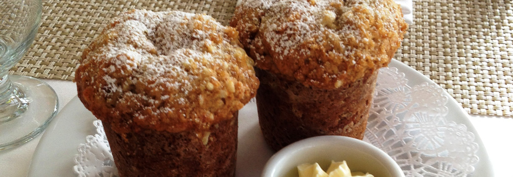 homemade gourmet breakfast muffins