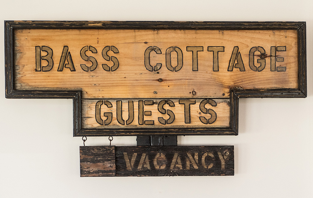 bass harbor cottage sign
